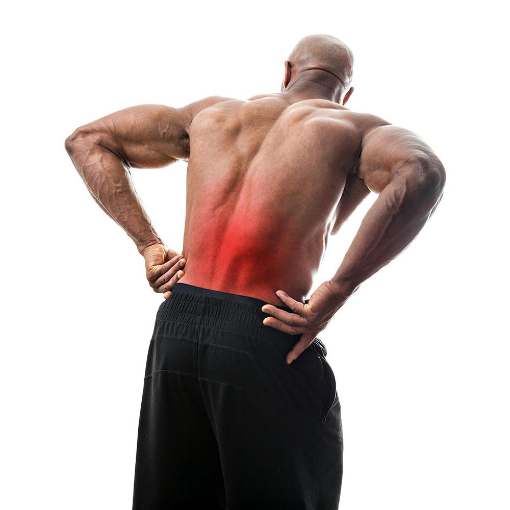 lower4 back pain man