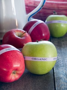 Red and Green Organic Apples
