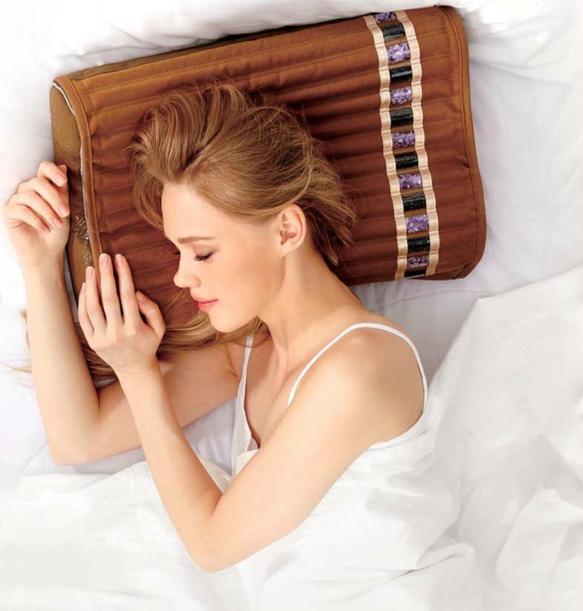 woman on amethyst pillow