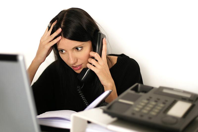 Overworked employee needs a break