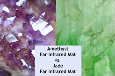 Amethyst vs Jade Far Infrared pad