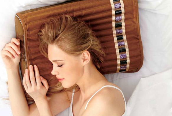 Amethyst and Black Tourmaline Pillow