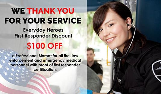 Discount for Biomat for First Responders